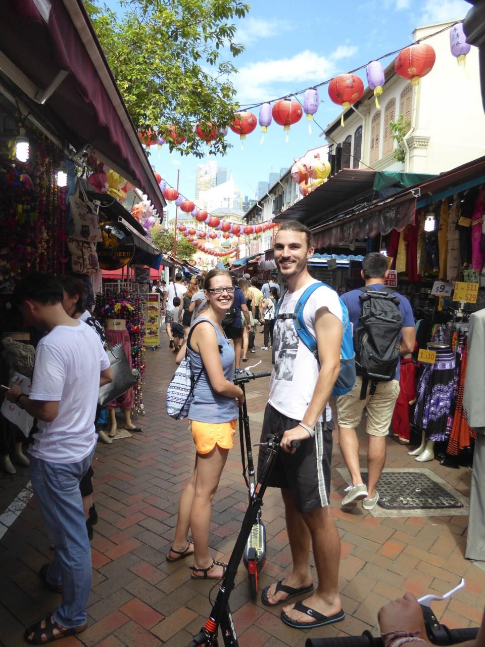 Mit dem Roller durch Chinatown