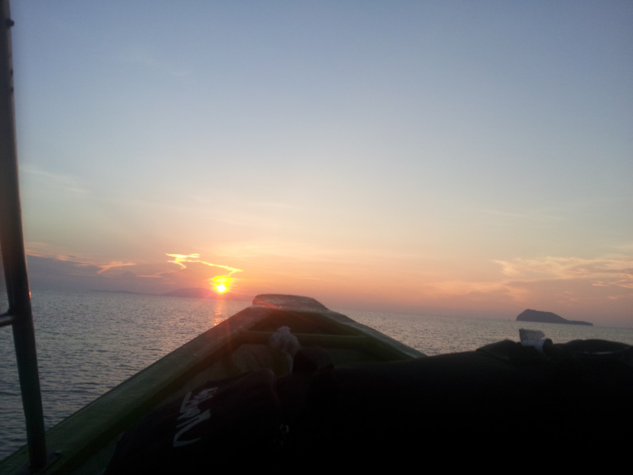 In der früh mit dem Schnellboot auf die Perhentian Islands