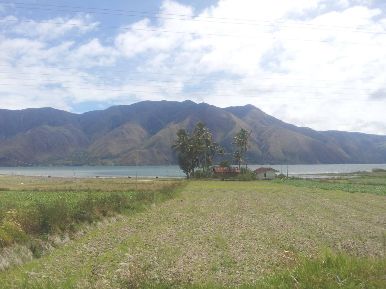 Blick von der Insel auf das Festland