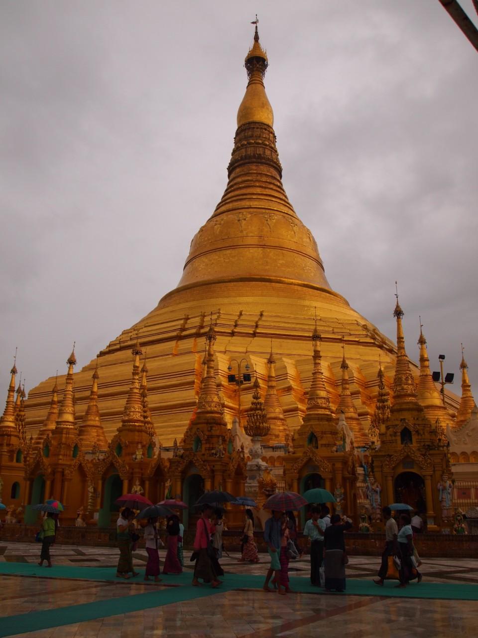 Die große Shwedagon-Pagode.