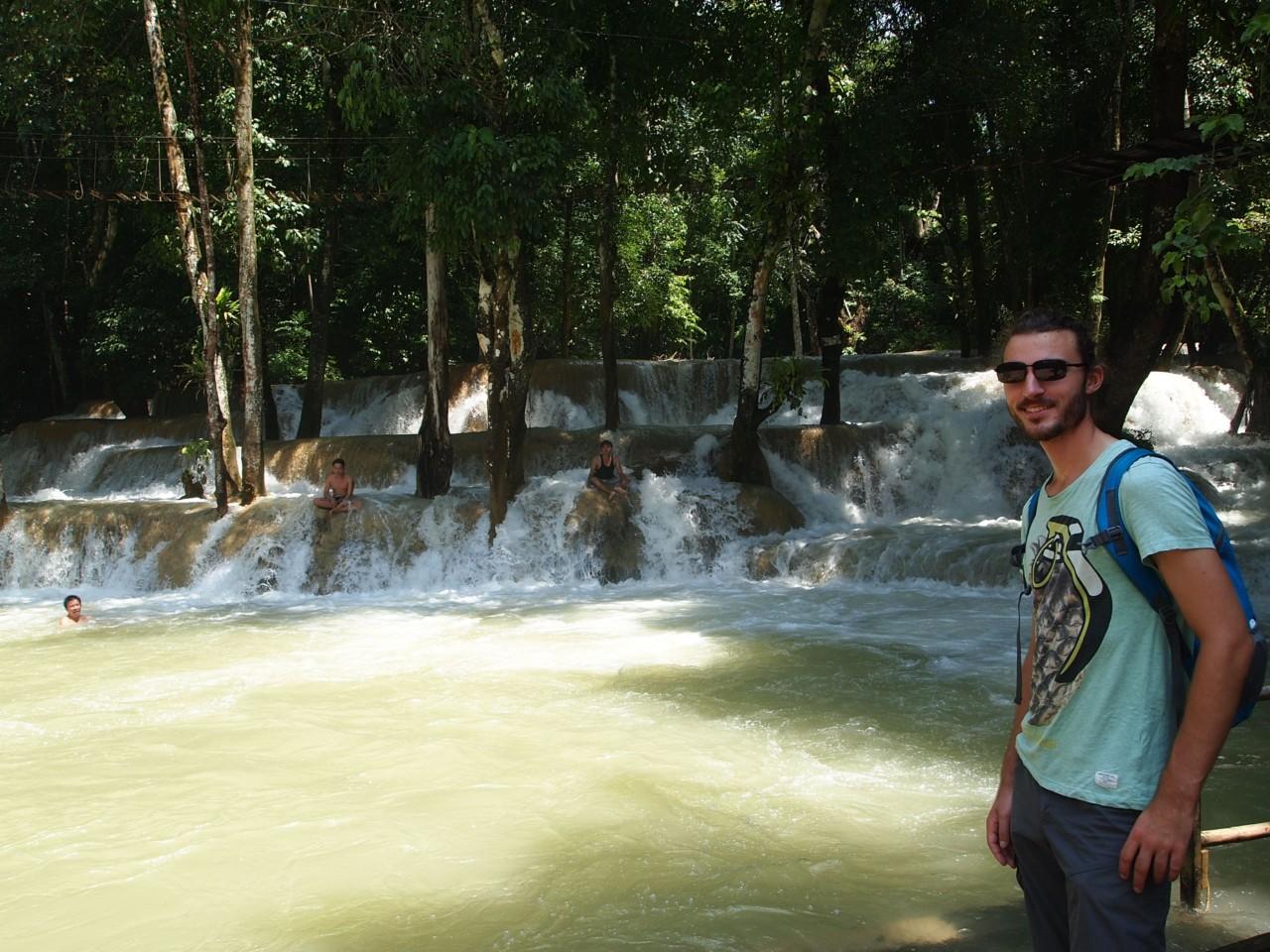 Einer der Wasserfälle um Luang Prabang. Sehr erfrischend